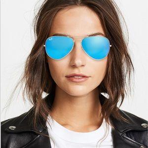Ray-Ban💙Polarized Sunglasses AVIATOR MIRROR